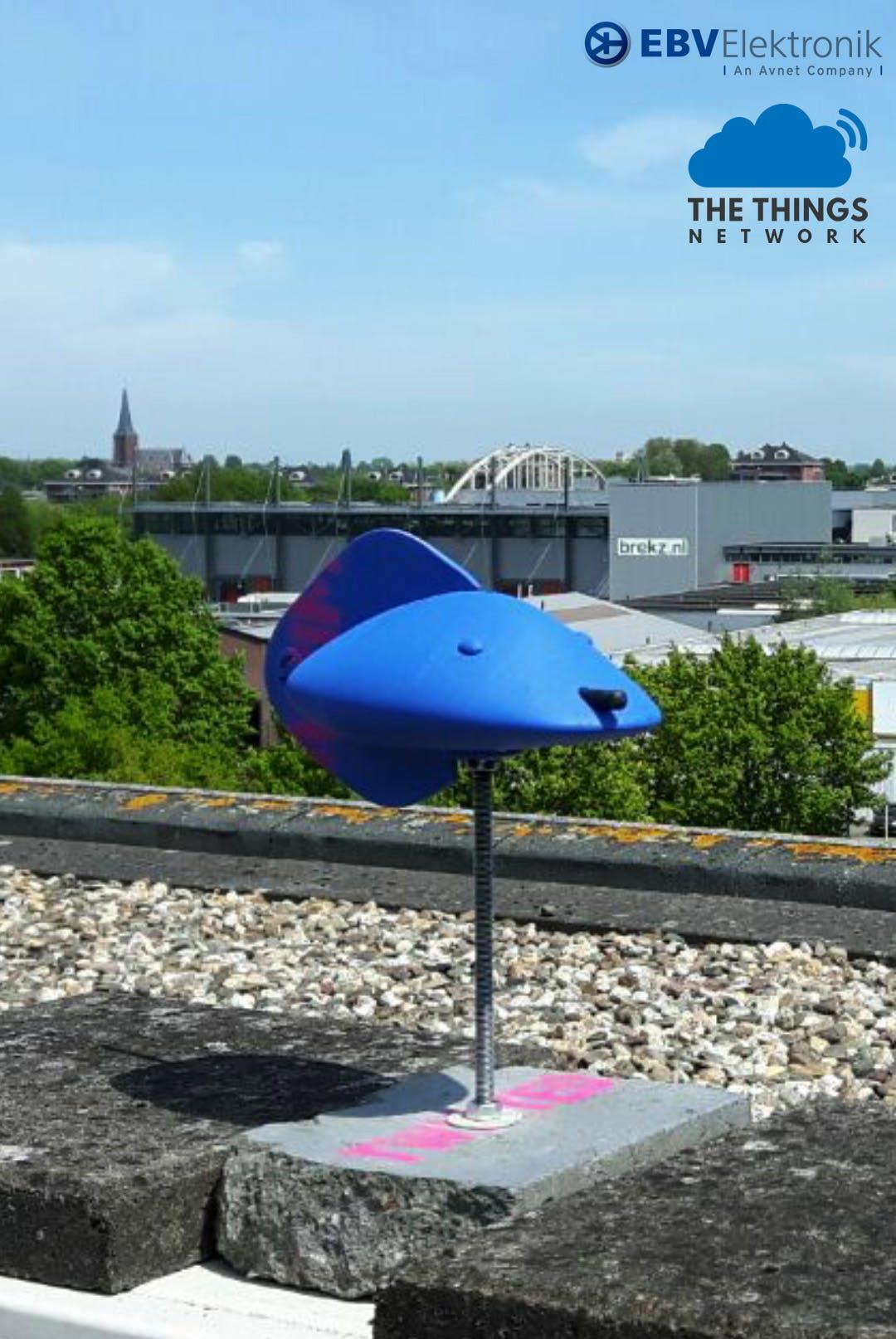 WindVane V2 on top of building