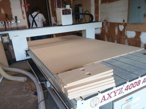 The CNC router that makes our frames