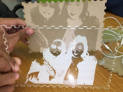 Laser Engraved Picture Box