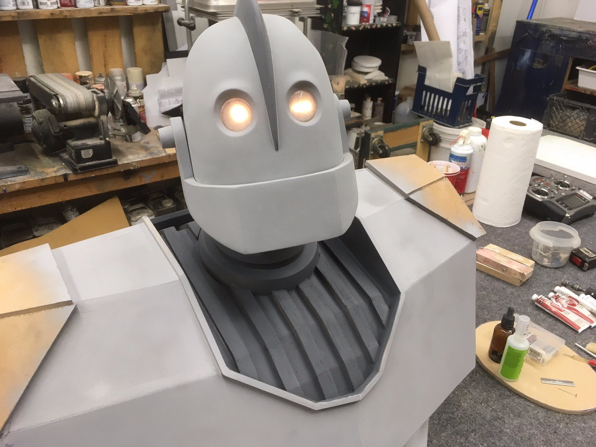 "Scratch built six foot ""Iron Giant"" project"
