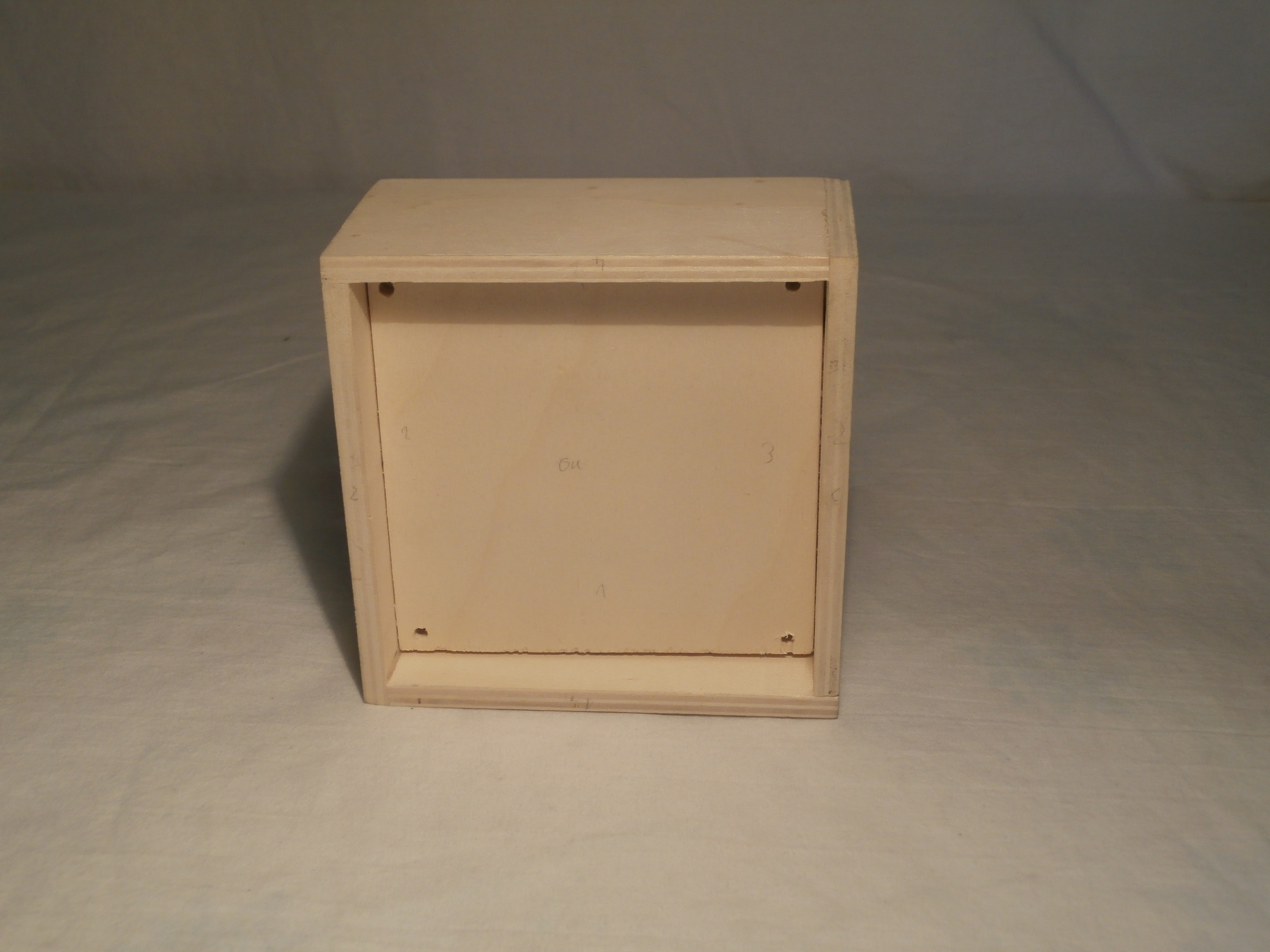 Box above