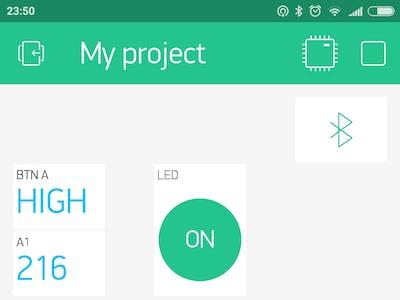 BBC micro:bit + Blynk Smartphone App + Arduino IDE
