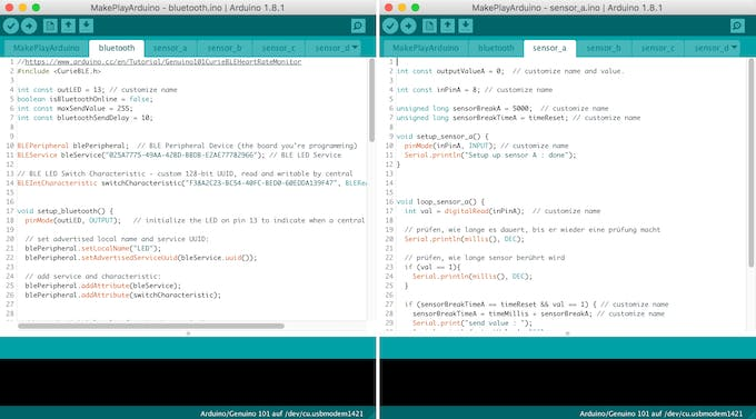 Part of the coding in Arduino.