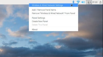Right-click on wireless icon to edit network settings
