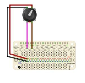 Fritzing Diagram for volume knob