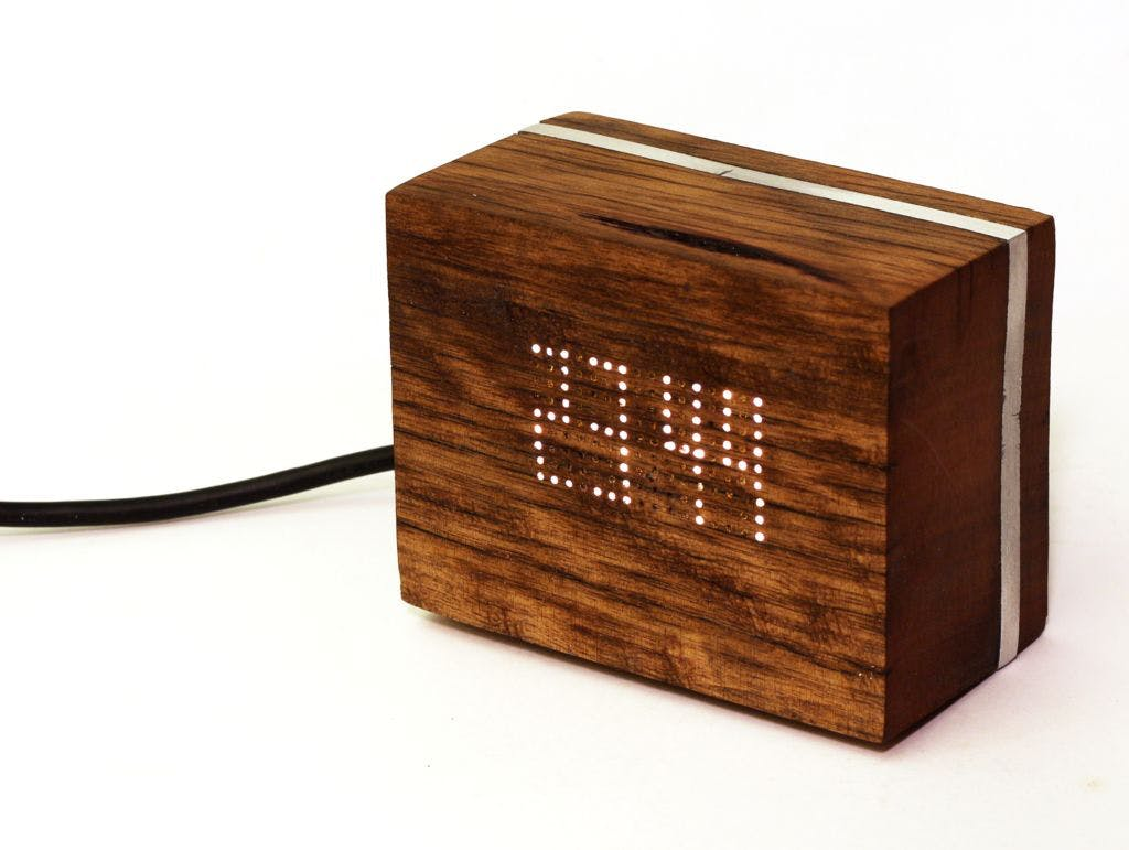 Making a Wooden LED Clock