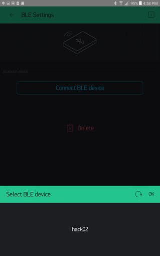 BLE Device Selection
