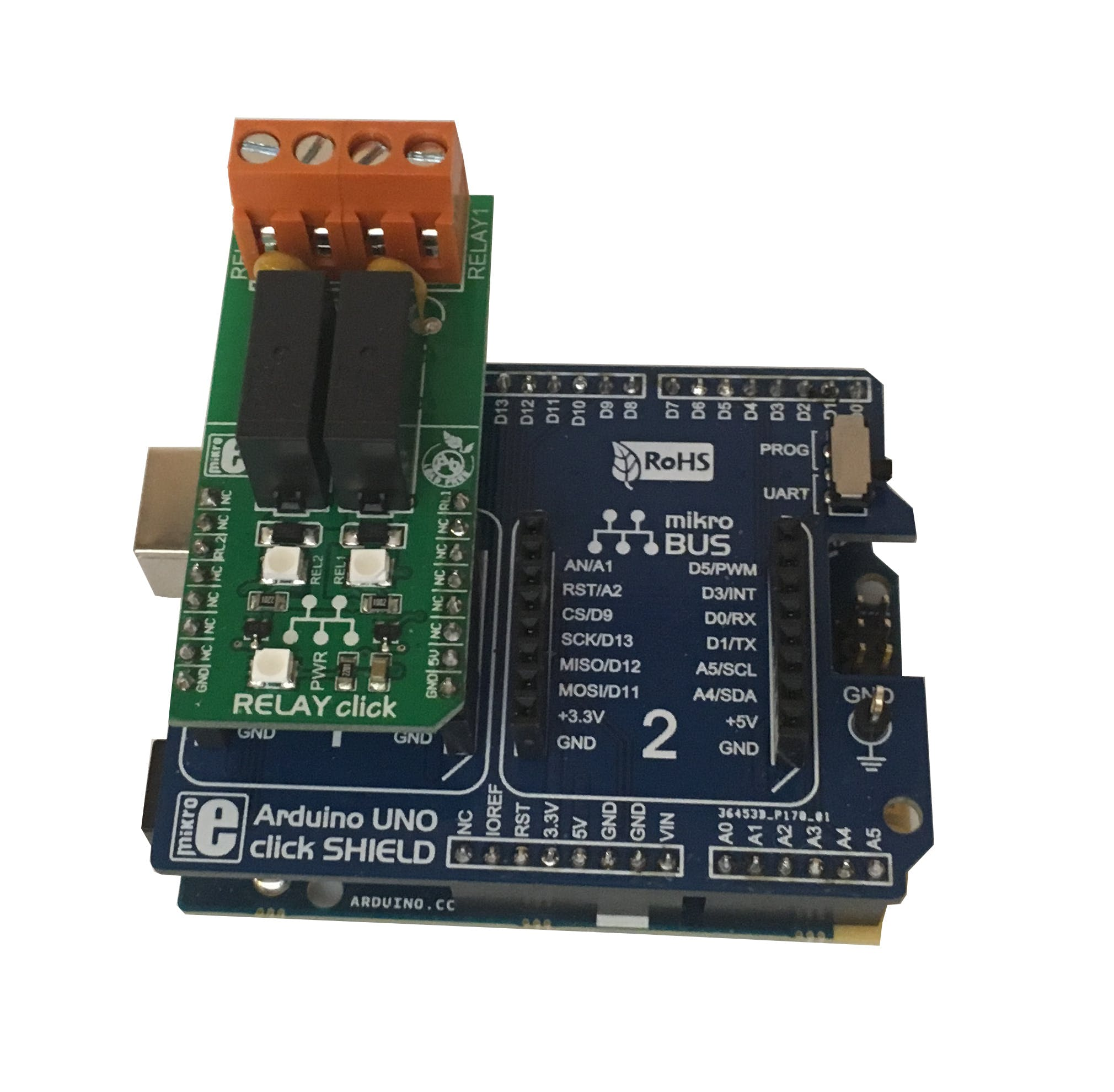 Arduino101 Click Shield and Click Board