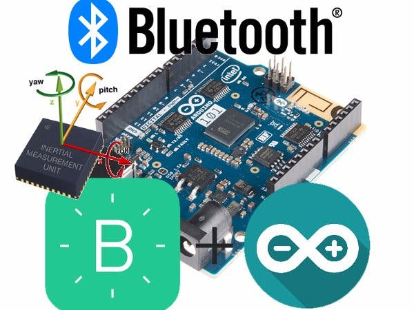 Arduino101 Bluetooth Intertial Measurement Unit (IMU)