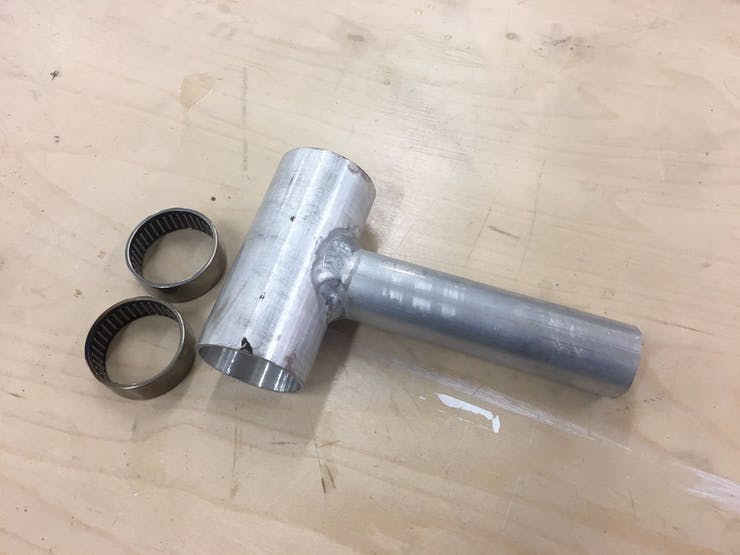 Lathe Made & Tig Welded angle with Roller Needle Bearings