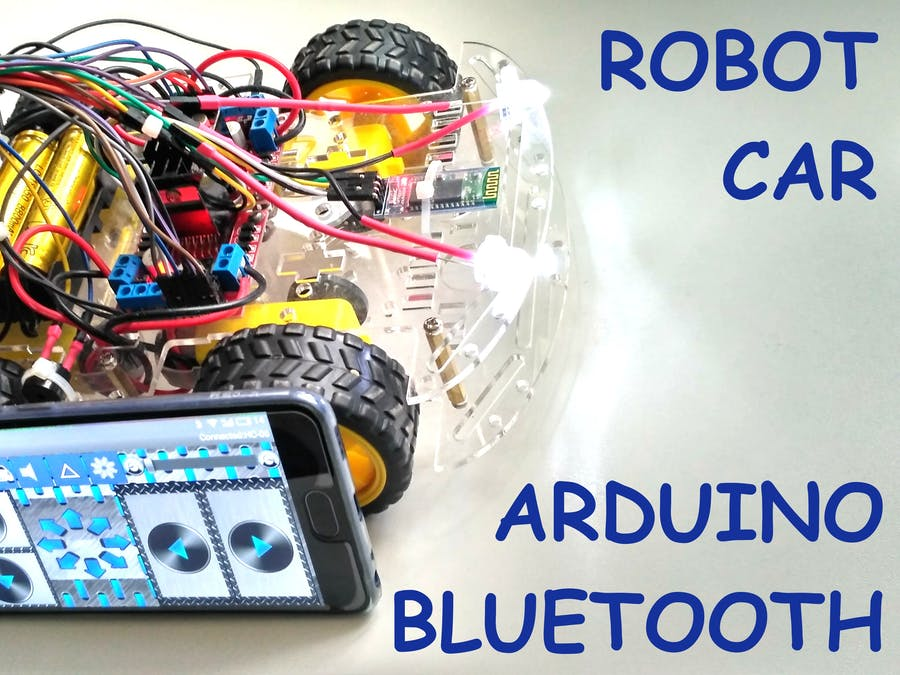 Smartphone Controlled Arduino 4WD Robot Car