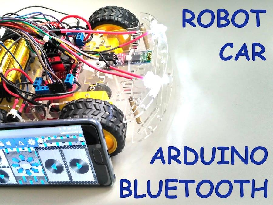 Smartphone Controlled Arduino 4WD Robot Car - Arduino