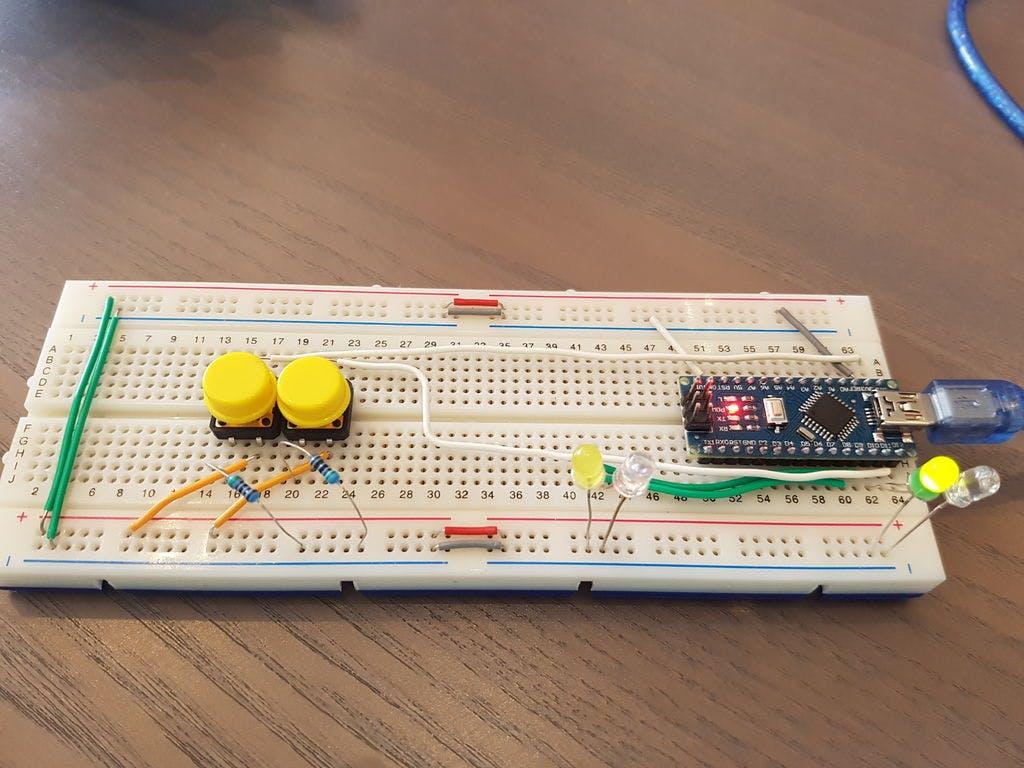 2 Players Competition Quiz Buzzer Box System Using Arduino Buzzergameshowcircuitpng