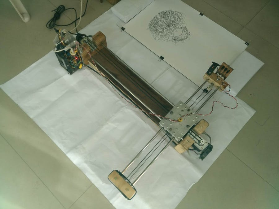 Crazy Engineer's Drawing Robot Arduino GRBL CoreXY Drawbot - Hackster io