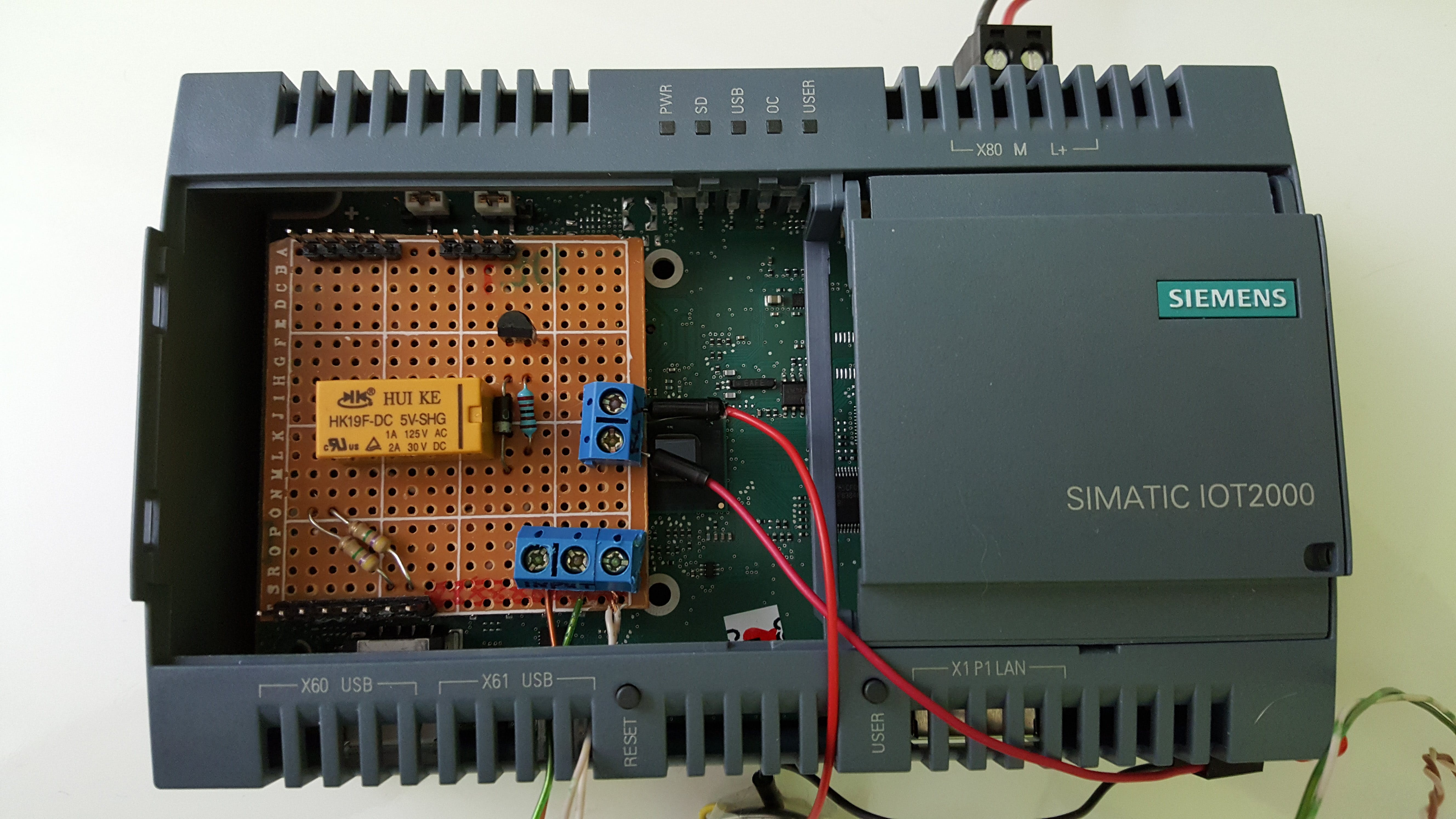 My shield installed on the IOT2020.