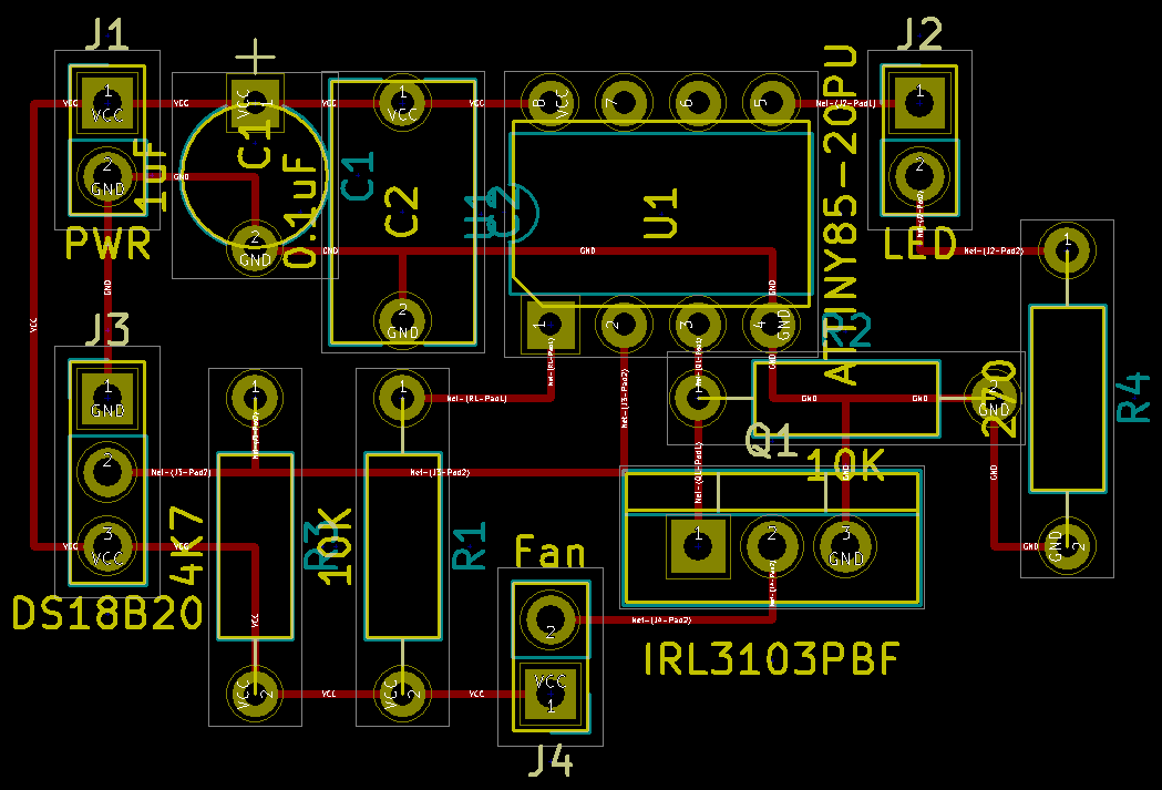 Temperature Controlled Fan With LED Status - Hackster io