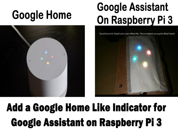 Add A Google Home Ligh Indicator for Voice Activated Google