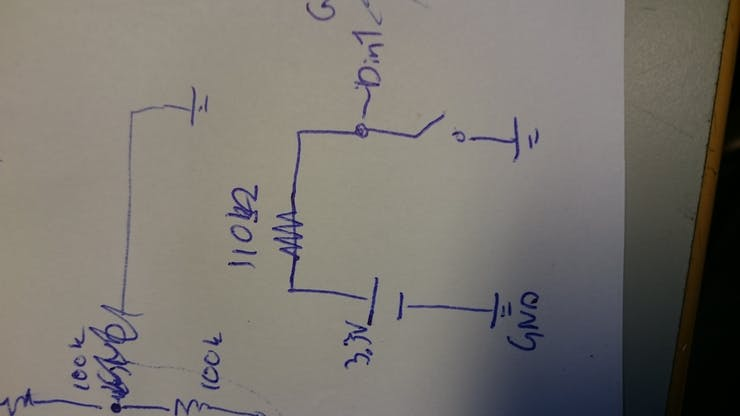 Simple schematic of button position measurement