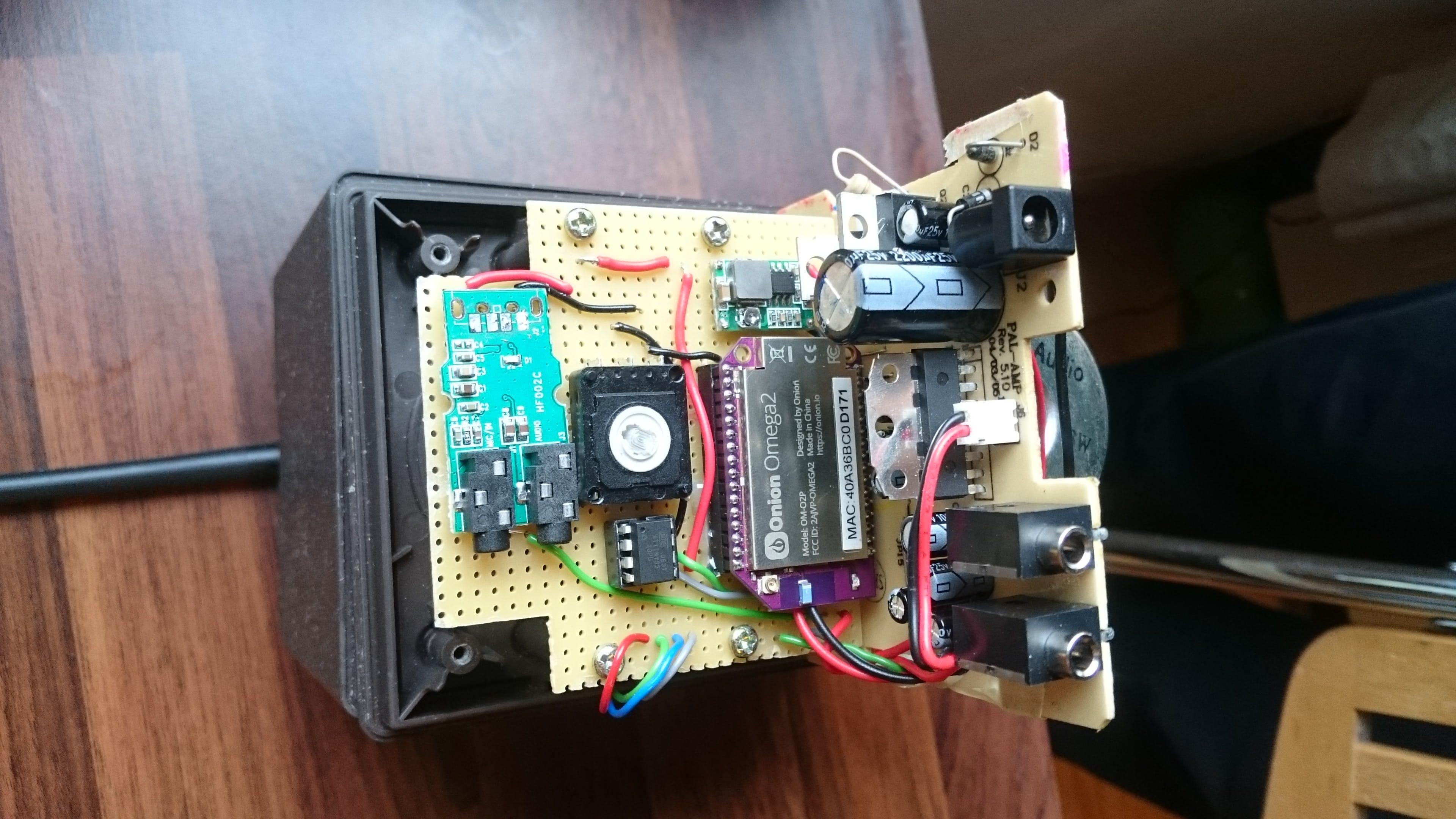 "Custom ""PCB"" mounted in the radio"