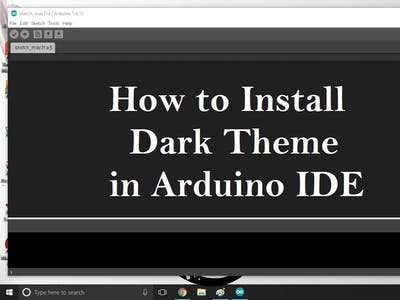 How to Install Dark Theme for Arduino IDE
