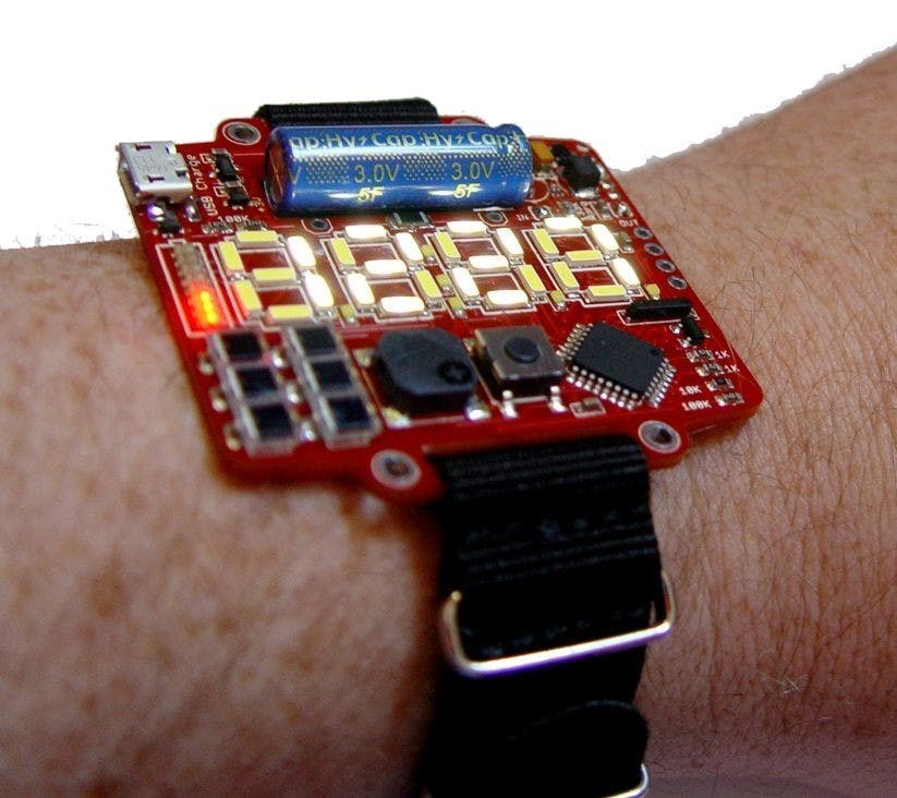 BPW34 Solar / Supercapacitor Powered LED Watch