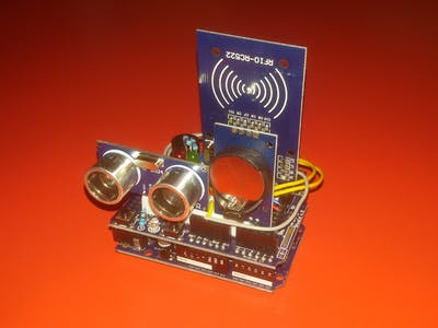 A Very Compact Alarm with Card Reader and Real-Time Clock