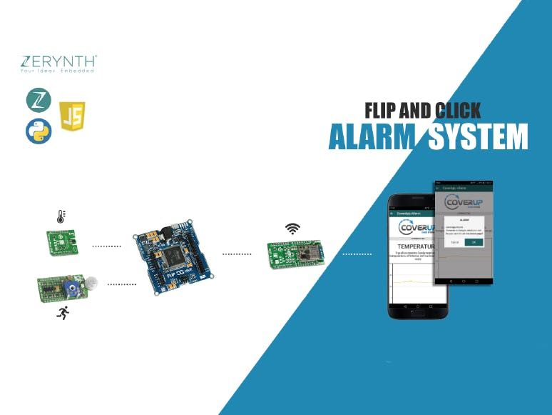 Alarm System with motion and temperature sensors