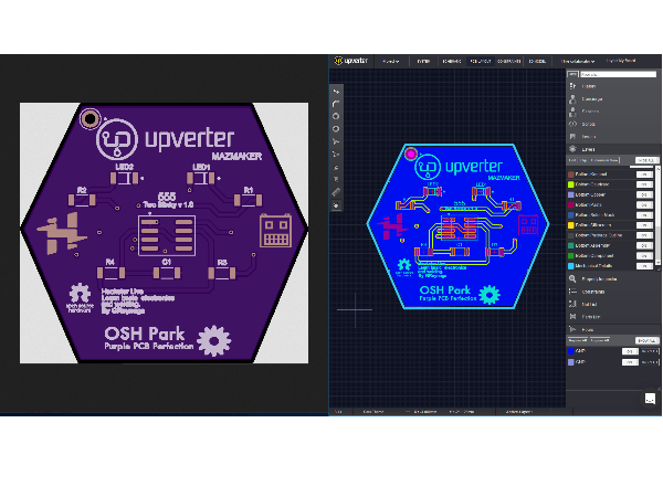 Create a Custom Shaped (Outline) PCB with Upverter