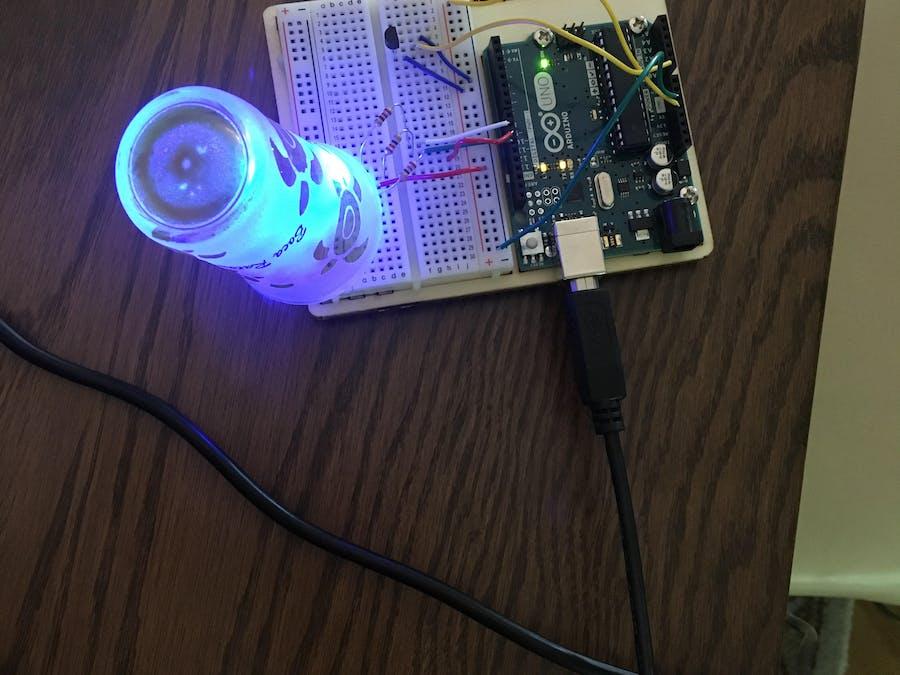 Color-changing Lamp Via Temperature Input