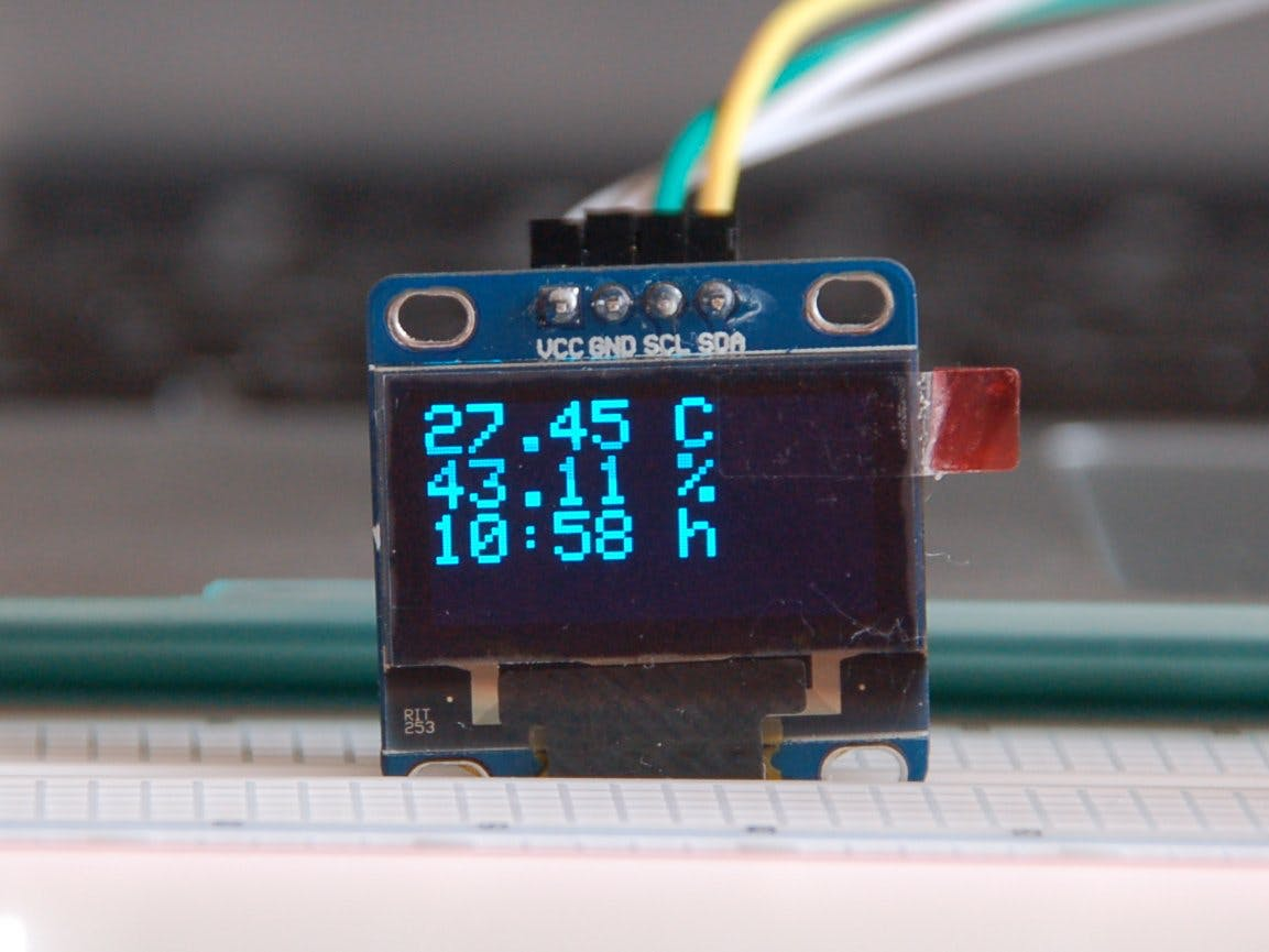 BME280 Measures And Displays On OLED Controlled By Photon