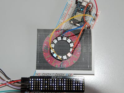 MyLight-Clock with NeoPixel Ring 12 Controlled by Photon