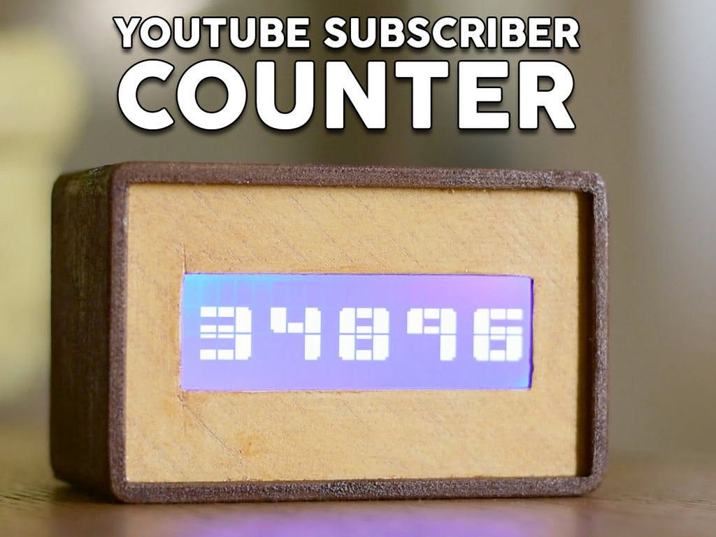 YouTube Subscriber Counter Using an ESP8266 Board