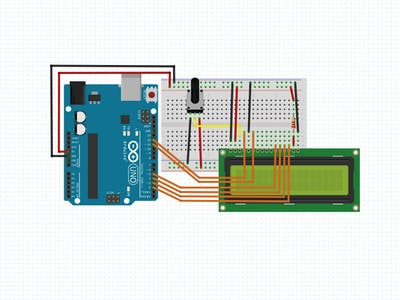 Easily Wire a 16x2 LCD