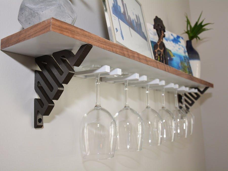 DIY Wine Glass Shelf