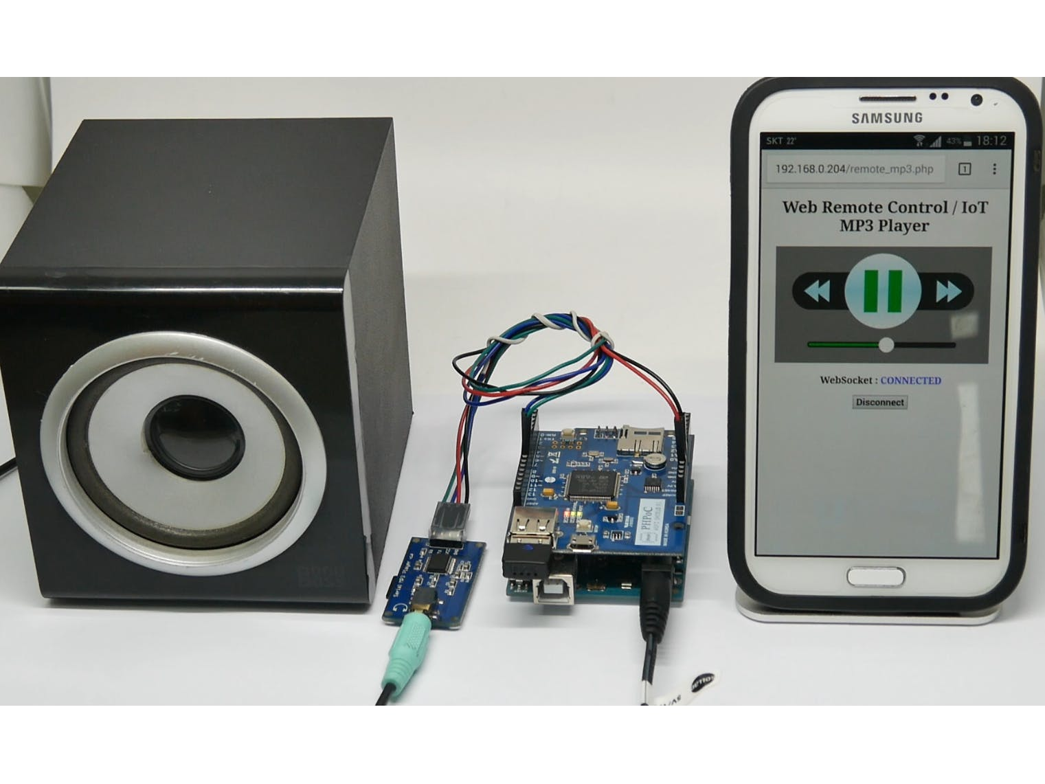Arduino - Web-Based MP3 Player