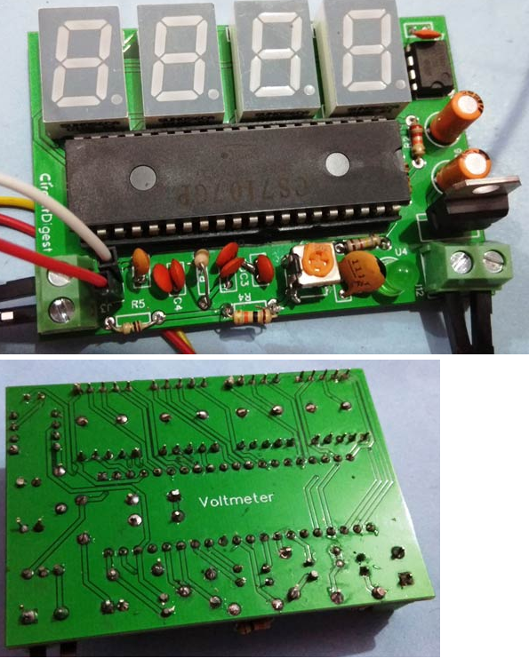 simple digital voltmeter circuit with pcb using icl7107 hackster io rh hackster io