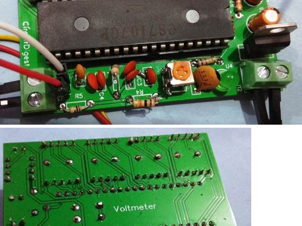 Simple Digital Voltmeter Circuit with PCB using ICL7107