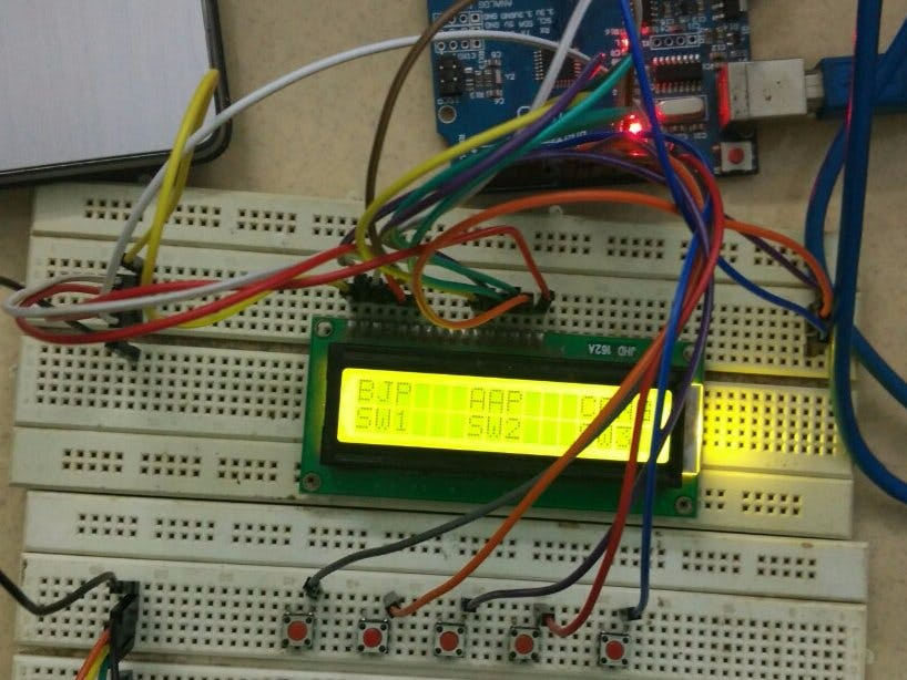 Electronic Voting Machine Using Arduino Hackster