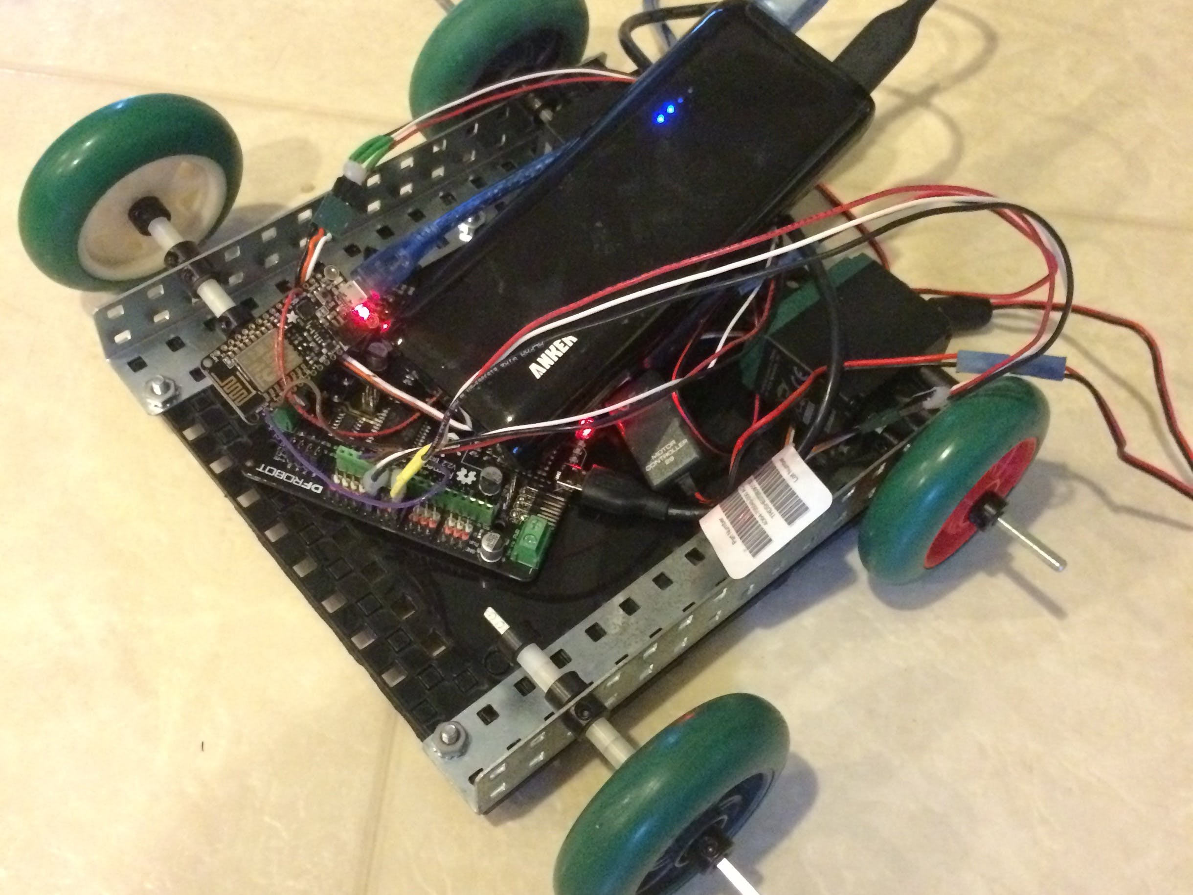 Web-Based Voice-Controlled Robot!