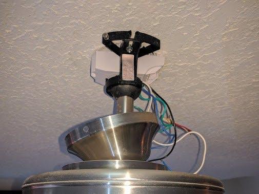 Wifi controlled ceiling fan