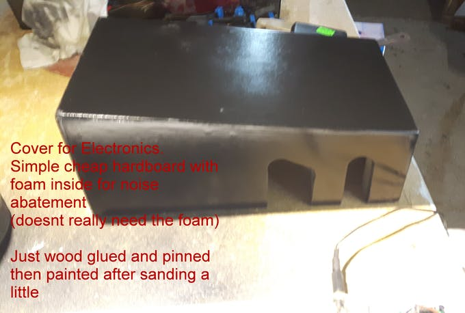 The electronics cover before the LCD upgrade