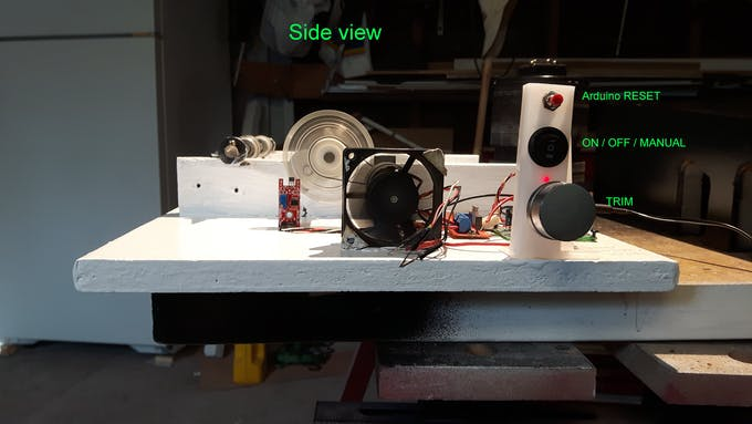 End view showing Controls so far.
