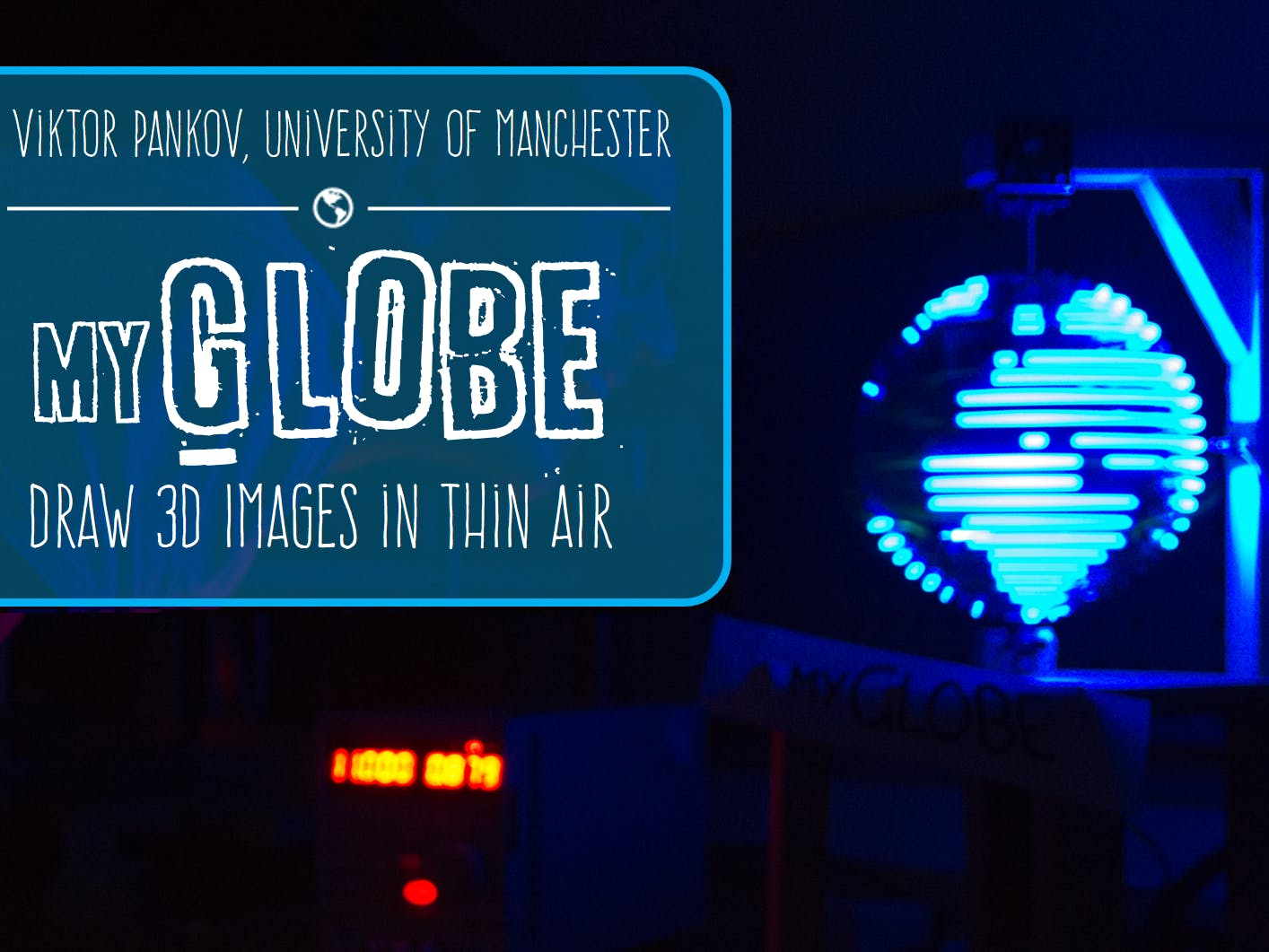 MyGlobe: Drawing 3D Images in Thin Air