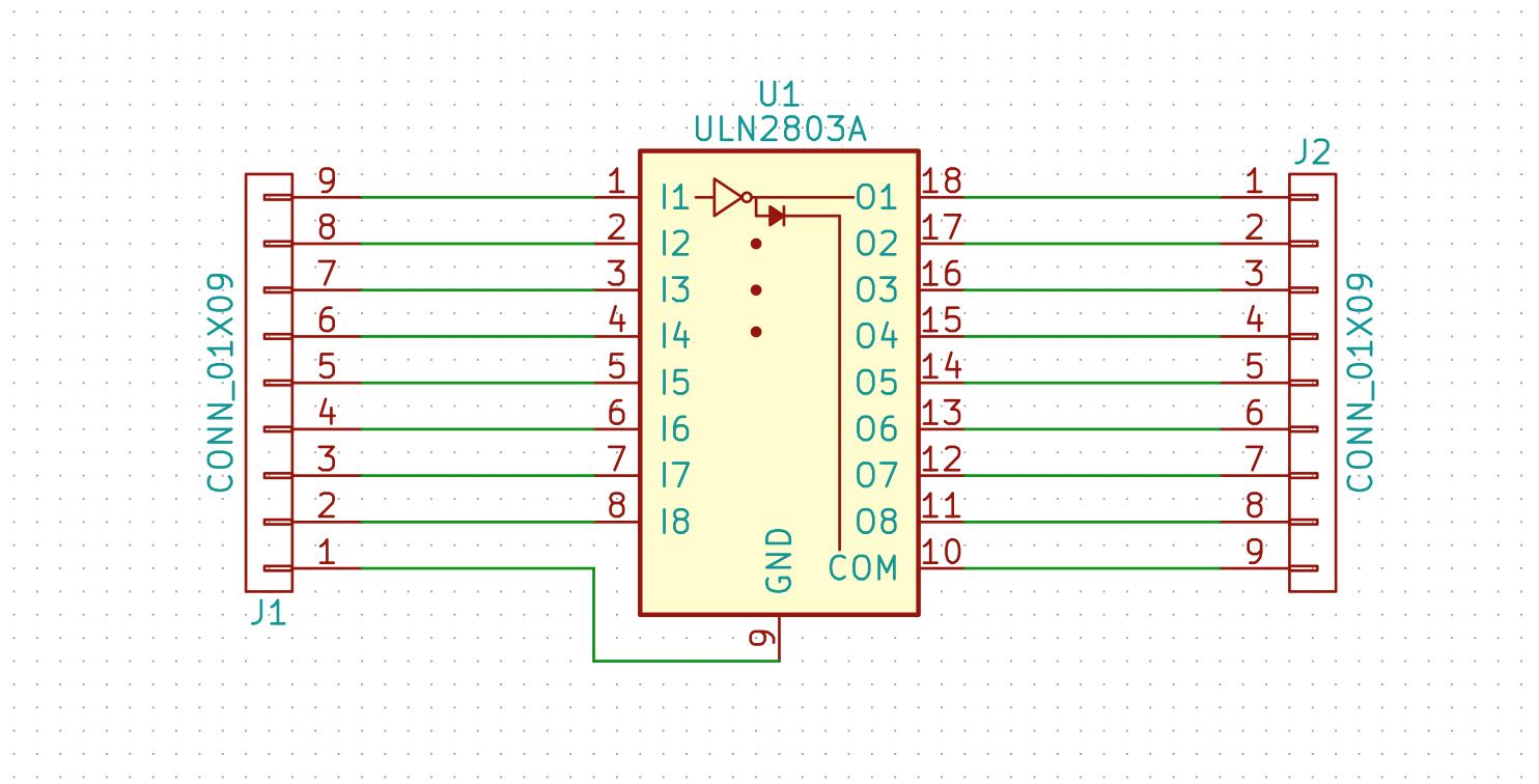 Uln2803 Breakout Board Relay Circuit Schematic