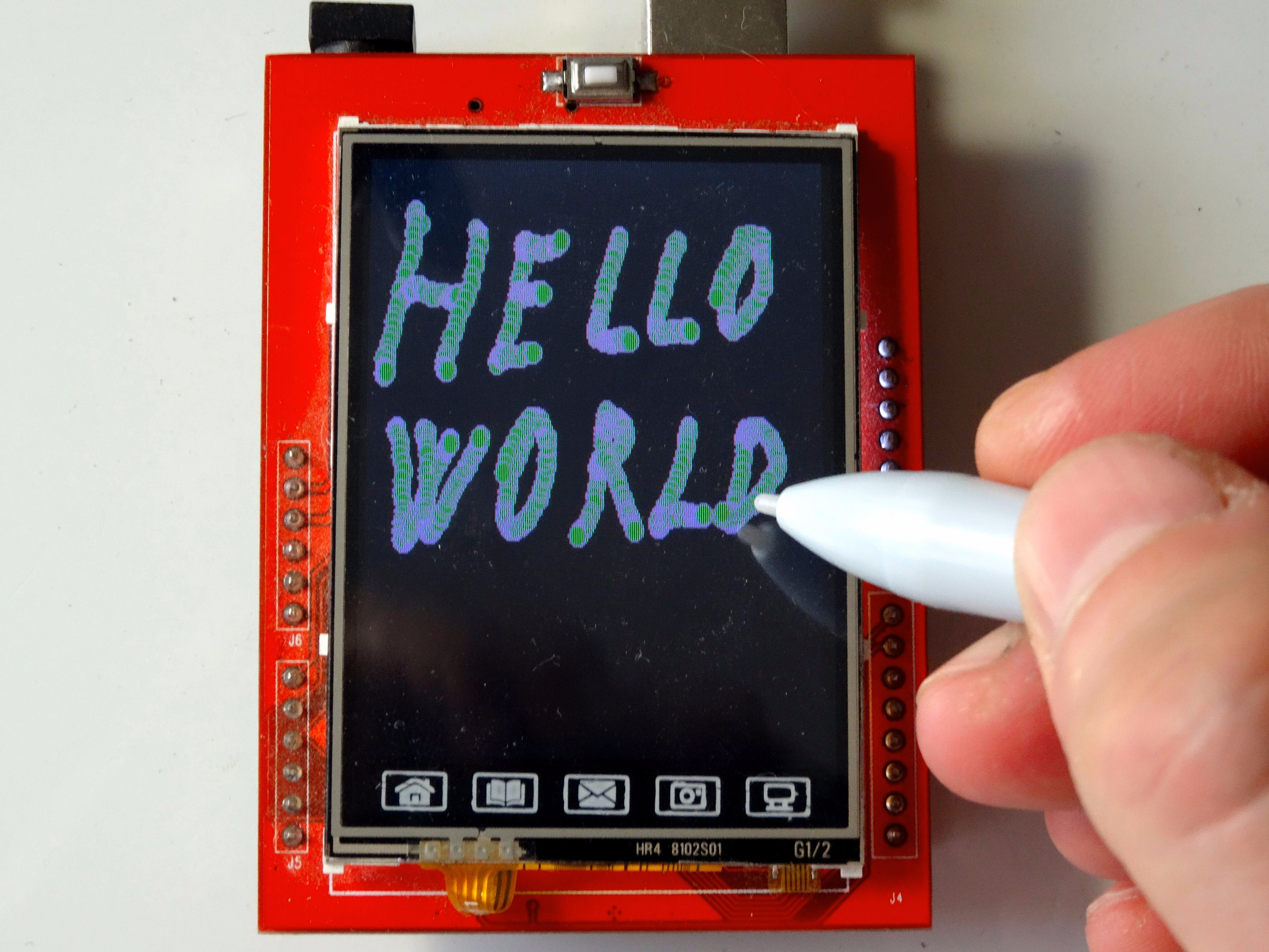 Draw on ILI9341 TFT Touchscreen Display Shield With Pen