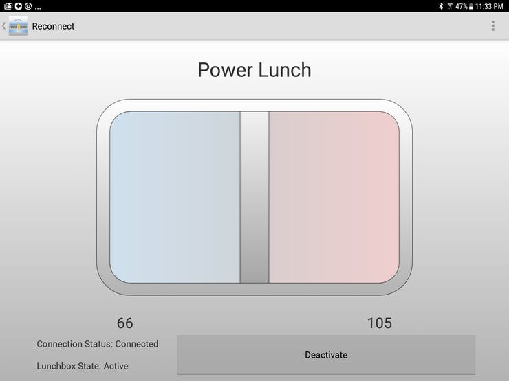 Power Lunch app home screen