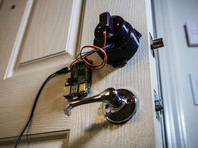 Smartphone Connected Home Door Lock