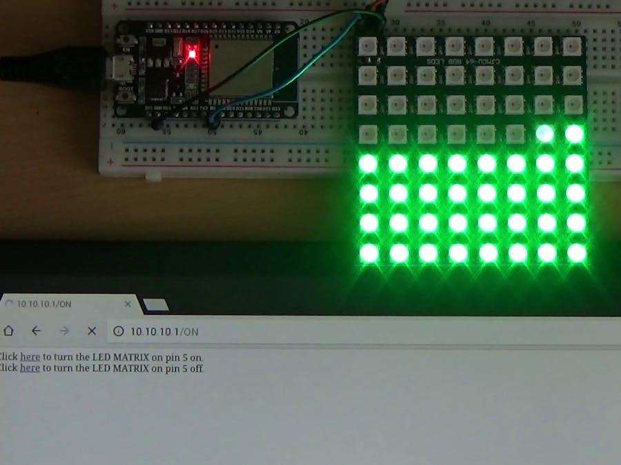 ESP and WS2812 8x8 LED Matrix - Hackster io
