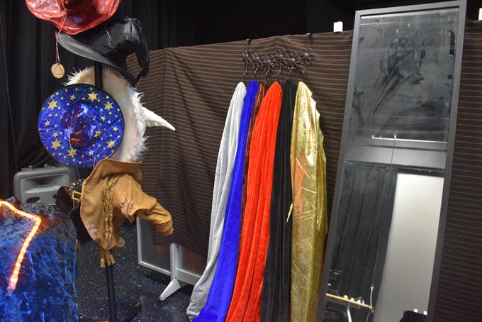Costumes will magical medallions that contain RFID tags