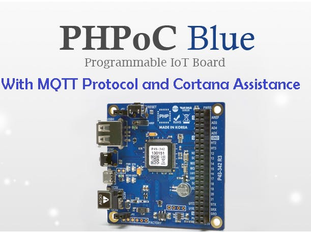 PHPoc Blue to Control Door Knob by MQTT Protocol and Cortana